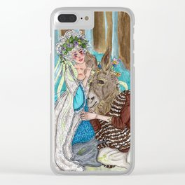 Bottom and Queen Titania Clear iPhone Case