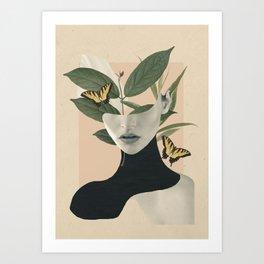 woman portrait /collage2 Art Print