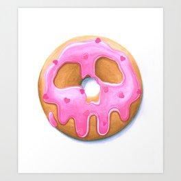 Death & Donuts (pink) Kunstdrucke