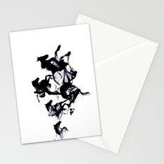 Black horses Stationery Cards