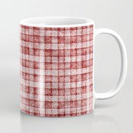 Dusty Pink Gingham Plaid Faux Suede Coffee Mug