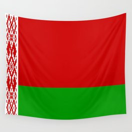 flag of belarus-belarusian,Minsk,Homyel,russia,snow,cold,chess,bear,rus,wheat,europe,easthern europe Wall Tapestry