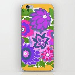 CAMBRIA, ART DECO FLORALS: OLVERA MORADO iPhone Skin