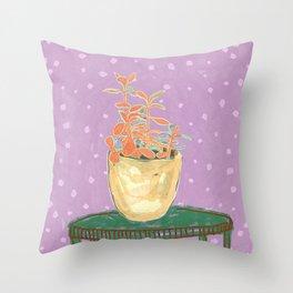 Plant Study I Throw Pillow