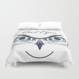 owl eyes Duvet Cover