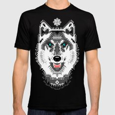 Silver Wolf Geometric Black MEDIUM Mens Fitted Tee