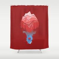 elk Shower Curtains featuring Elk by Trevor Seymour