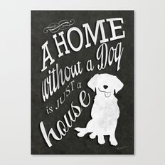 Home with Dog Canvas Print