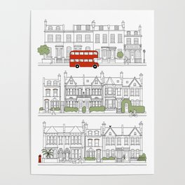 London houses Poster