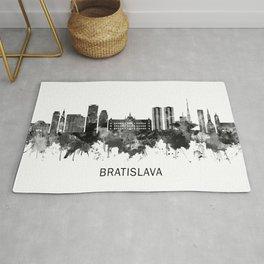 Bratislava Slovakia Skyline BW Rug