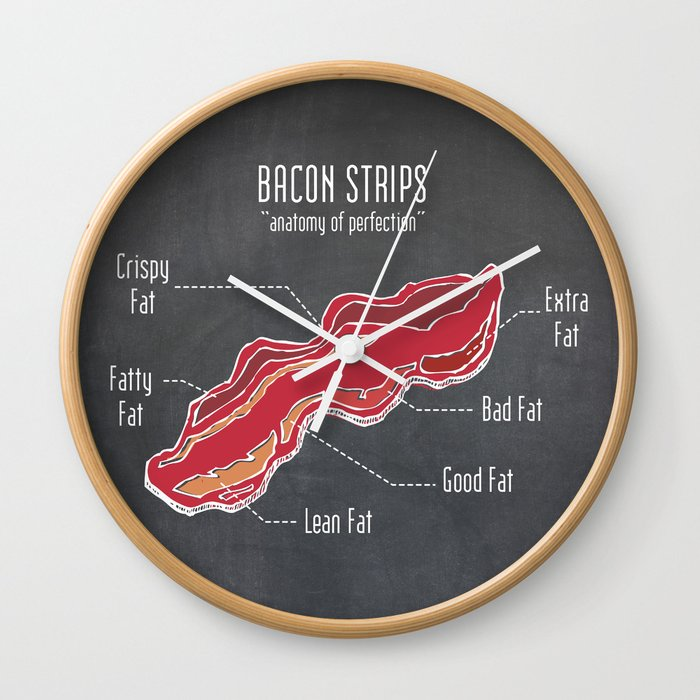 Bacon strips anatomy of perfection meat diagram wall clock by bacon strips anatomy of perfection meat diagram wall clock ccuart Choice Image