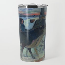 Christmas Night (The Blessing of the Oxen) Paul Gauguin Travel Mug