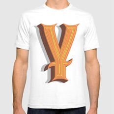 Letter Y Mens Fitted Tee White MEDIUM