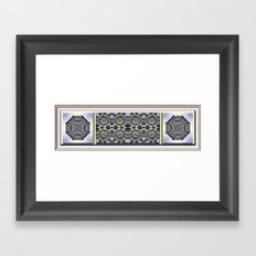 Peridot and Amethyst Framed Art Print