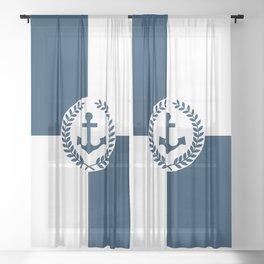 Nautical themed design 2 Sheer Curtain