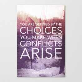 Defined by Conflict Canvas Print