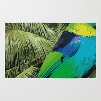 brasil Area & Throw Rugs featuring Brasil Tropical by watermelon