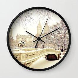 New York City Snow Wonderland Wall Clock