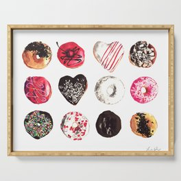 Assorted Donuts Valentine's Day Krispy Kreme Sprinkles Hearts Serving Tray