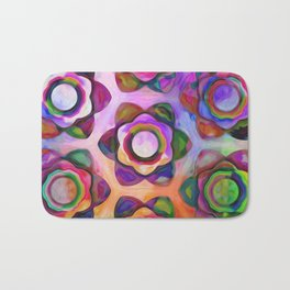 Rainbow Chunky Flowers Bath Mat