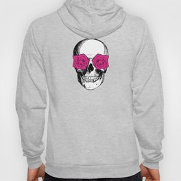 Skull and Roses | Skull and Flowers | Vintage Skull | Yellow and Pink | Hoody