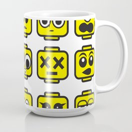Yellow Cartoon Faces on White Background Coffee Mug