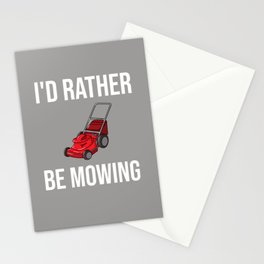 Lawn Mowing Gift Funny Lawn Mower Stationery Cards