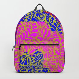 Night In the Jungle Garden, Pink Backpack