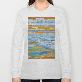 View From The Dunes With Beach And Piers, Domburg - Piet Mondrian Long Sleeve T-shirt