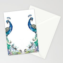 Double Peacocks Stationery Cards