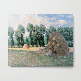 Haystacks by Claude Monet Metal Print