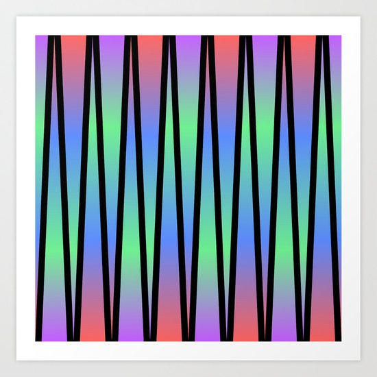 Lines and Colors Art Print