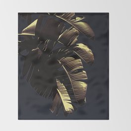 Golden Palm Throw Blanket
