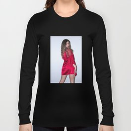 Red Lace Long Sleeve T-shirt