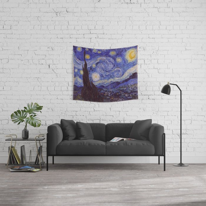 Vincent Van Gogh Starry Night Wall Tapestry