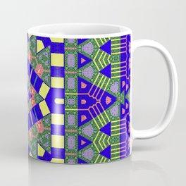 Muted Blue Green Yellow Abstract Coffee Mug