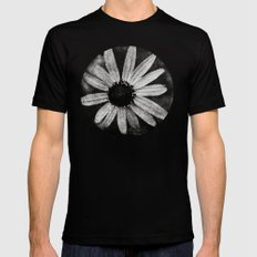 Flower in Black and white Black SMALL Mens Fitted Tee