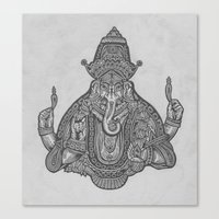ganesh Canvas Prints featuring Ganesh by TRUJI