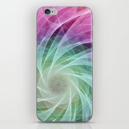 Whirlpool Diamond 2 Computer Art iPhone Skin