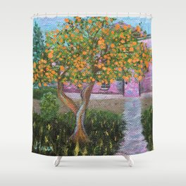 Orange Tree of St. Remy, France Shower Curtain