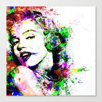 marylin monroe Canvas Prints featuring Monroe. by David