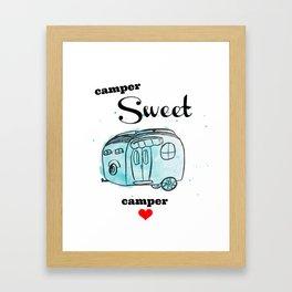 Camper Sweet Camper Framed Art Print