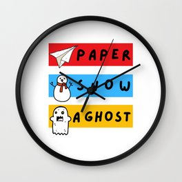 Paper Snow Ghost Funny Friends Quote Wall Clock