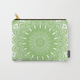 Light Lime Green Mandala Simple Minimal Minimalistic Carry-All Pouch