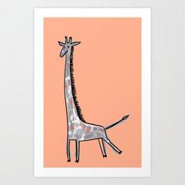 Giraffe Kick Art Print