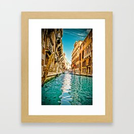 Streets of Venice Framed Art Print