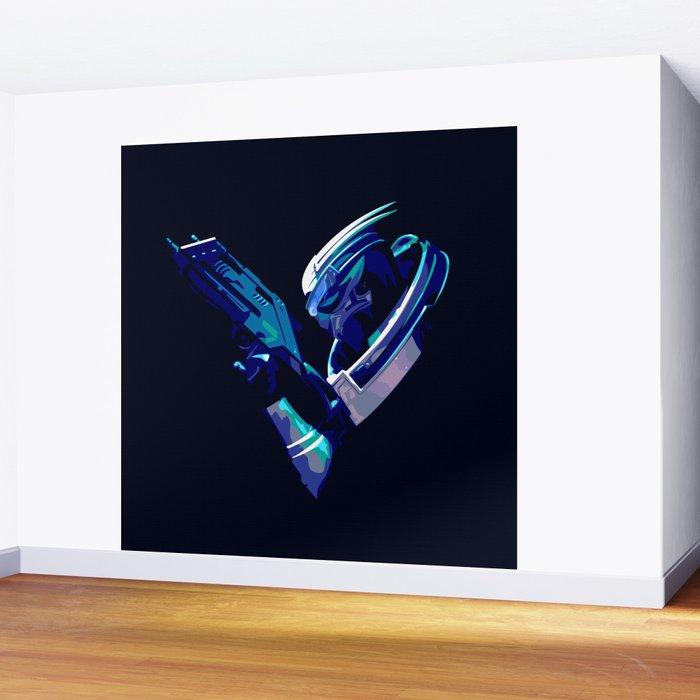 Mass Effect: Garrus Vakarian Wall Mural by darthasterisk | Society6
