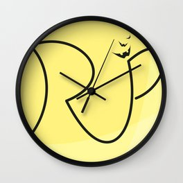 H A L L O W E E N  Special R.I.P. Signature Designed by Atalay Visuals Wall Clock