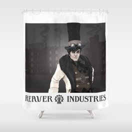 """Industrial"" Shower Curtain"