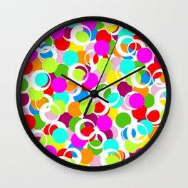 Color Circles School Print Wall Clock